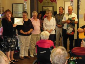 Quilters receive certificate